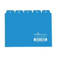 Leitkartenregister Durable 36500 A5, A-Z, 25teilig, 5/5 Fahnen, blau