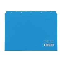 Leitkartenregister Durable 36600 A6, A-Z, 25teilig, 5/5 Fahnen, blau