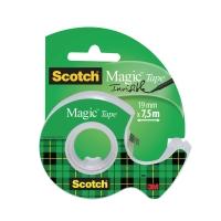 Klebeband Scotch Magic 810, 19 mmx7,5 m, beschriftbar, mit Abroller