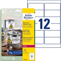 Etiketten Avery Zweckform L4776, 99,1x42,3 mm, wasserfest, weiss, Pk. à 240 Stk.