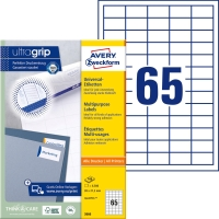 Etiketten Avery Zweckform 3666, 38x21,2 mm, Packung à 6500 Stück