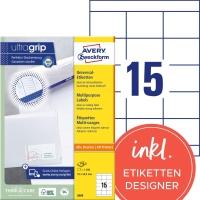 Etiketten Avery Zweckform 3669, 70x50,8 mm, weiss, Packung à 1500 Stück