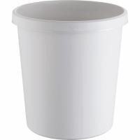 Papierkorb Helit, 18 l, Kunststoff, lichtgrau