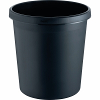 Papierkorb Helit, 18 l, Kunststoff, schwarz