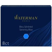 Tintenpatronen Waterman lang, blau, Packung à 8 Stück