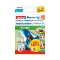 Powerstrips Tesa Poster, weiss, Packung à 20 Stück