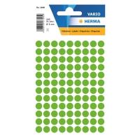 Etiketten Herma 1848, 8 mm, rund, leuchtgrün, Packung à 540 Stück