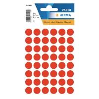 Etiketten Herma 1866, 12 mm, rund, leuchtrot, Packung à 240 Stück