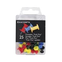 Pin-Nadeln Exacompta, 20 mm lang, assortiert, Packung à 25 Stück