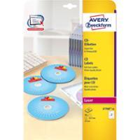 Etiketten Avery Zweckform L7760, CD/DVD, SuperSize, weiss glossy, Pk. à 50 Stk.