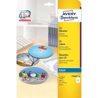 Etiketten Avery Zweckform C9660, CD/DVD, SuperSize, weiss glossy, Pk. à 50 Stk.
