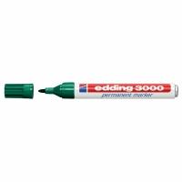 Permanent Marker Edding 3000, Rundspitze, Strichbreite 1,5-3 mm, grün