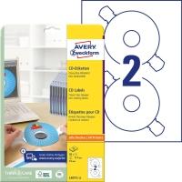 Etiketten Avery Zweckform L6015, CD/DVD, ClassicSize, weiss, Pk. à 50 Stk.