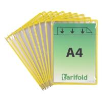 Sichttasche Tarifold 114004 A4, gelb, Packung à 10 Stück
