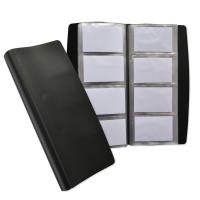 Visitenkartenbuch Elba Soft 140x275 mm, schwarz