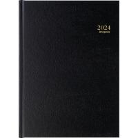 Agenda Bremax 002345, A4, 1 Tag auf 2 Seiten, 6sprachig, schwarz