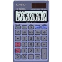 Taschenrechner Casio SL-320TER+, 12-stellige Anzeige, blau