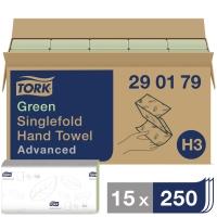 Falthandtuch Tork Advanced 290179, 2-lg., grün, Pk. à 15x250 Tücher