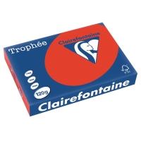Kopierpapier Trophee 1227 A4, 120 g/m2, korallenrot, Packung à 250 Blatt
