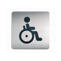 Türschild Durable 4959-23, 150x150 mm, Picto WC gehandicapt, silber/schwarz