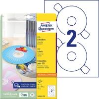 Etiketten Avery Zweckform L6043-100, CD/DVD, ClassicSize, weiss, Pk. à 100 Stk.