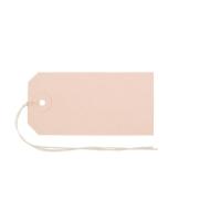 Anhänge-Etiketten Biella Manila 561090, 45x90 mm, braun, Bund à 50 Stück