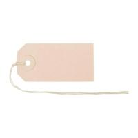Anhänge-Etiketten Biella Manila 561070, 35x70 mm, braun, Bund à 50 Stück