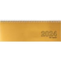 Tischplaner rido Septant 36221R11, 1 Woche pro Doppelseite, Karton, gold/weiss
