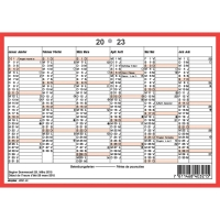 Wandkalender Simplex 40321, mit Notizraum, 1/2 Jahr pro Seite, 2sprachig