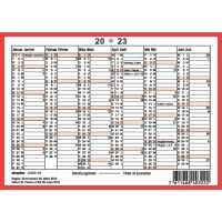 Wandkalender Simplex 40322, mit Notizraum, 1/2 Jahr pro Seite, 2sprachig