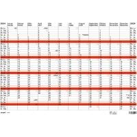 Jahresplaner Simplex 40375, Jahresübersicht mit Notizraum