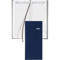 Agenda Biella Le Jour 801310, 13,5x31,5 cm, Kunstleder, 1 Tag pro Seite, blau