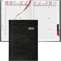 Agenda Biella Registra 809501, 1 Tag pro Seite, Kunstleder, A5, schwarz