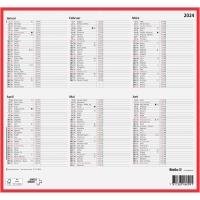 Wandkalender Biella 871006, mit Notizraum, 1/2 Jahr pro Seite, deutsch