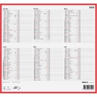 Wandkalender Biella 871006, mit Notizraum, 1/2 Jahr pro Seite, französisch