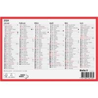 Wandkalender Biella 871507, mit Notizraum, 1/2 Jahr pro Seite, deutsch