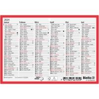 Wandkalender Biella 871607, mit Notizraum, 1/2 Jahr pro Seite, deutsch