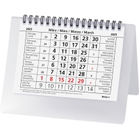 Tischplaner Biella Desktop Basic 887061, 1 Monat pro Seite, Kunststoff, transp.