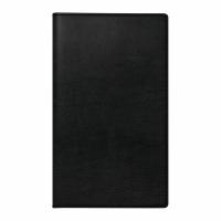 Taschenplaner, 1 Woche auf 2 Seiten, quer, Kunstleder, schwarz
