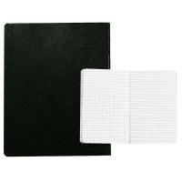 Leinenheft A4, 4 mm kariert, 72 Blatt, schwarz