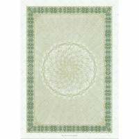 Zertifikat A4, ohne Text neutral, grün, Packung à 10 Blatt
