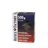 Gummibänder Office Factory 605532, 80x3 mm, naturfarbig 500 g