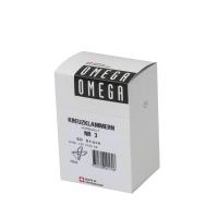 Kreuzklammern Omega 3/50, 64 mm, silber, Packung à 50 Stück