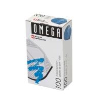 Eckenklammern Omega, blau, Packung à 100 Stück