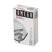 Eckenklammern Omega, silber, Packung à 100 Stück