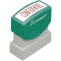 Wort-Stempel X-Stamper, Confidentiel, rot
