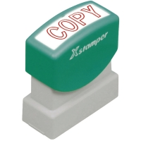Wort-Stempel X-Stamper, Copy, rot