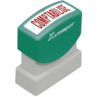 Wort-Stempel X-Stamper, Comptabilisé, rot