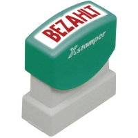Wort-Stempel X-Stamper, Bezahlt, rot