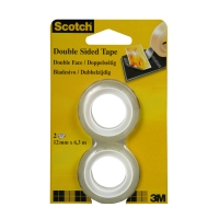 Klebeband Scotch 665,12 mmx6,3 m, doppelseitig, Packung à 2 Rollen